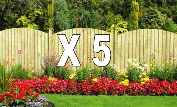 Five Section Arched Featherboard DIY Pack With Timber Posts