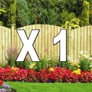 Top Up Arched Featherboard DIY Pack With Timber Posts