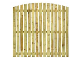 Arched Timber Palisade Fence Panels