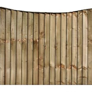 Concaved Feather Board Fence Panel