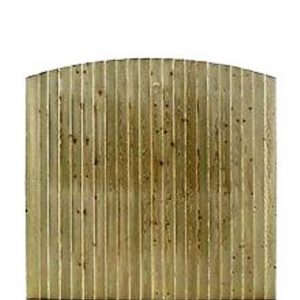 Arched Feather Board Fence Panels