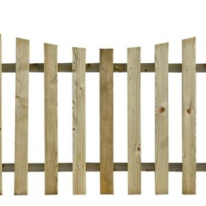 Concaved Timber Palisade Fence Panel
