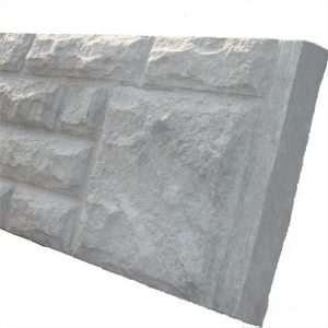 Rockface Concrete Base Panel / Gravel Board